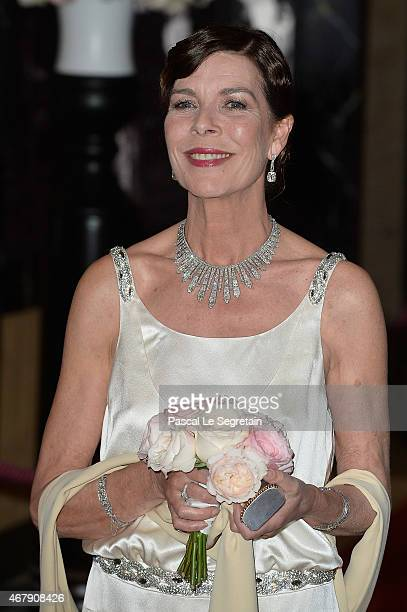 Princess Caroline of Hanover attends the Rose Ball 2015 in aid of the Princess Grace Foundation at Sporting MonteCarlo on March 28 2015 in MonteCarlo...