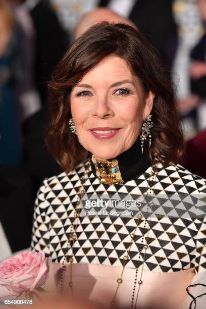 Princess Caroline of Hanover attends the Rose Ball 2017 To Benefit The Princess Grace Foundation at Sporting Monte-Carlo on March 18, 2017 in...