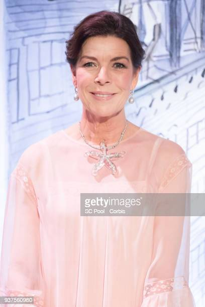 Princess Caroline of Hanover attends the Rose Ball 2018 To Benefit The Princess Grace Foundation at Sporting MonteCarlo on March 24 2018 in...