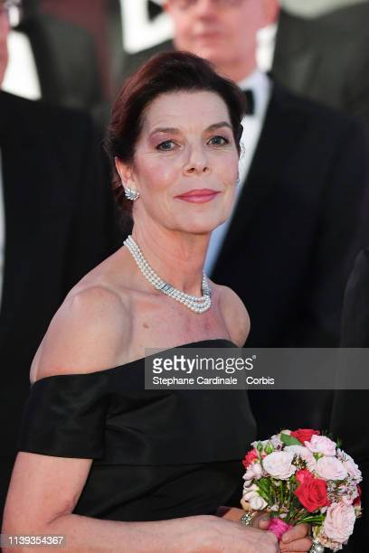 Princess Caroline of Hanover attends the Rose Ball 2019 To Benefit The Princess Grace Foundation on March 30, 2019 in Monaco, Monaco.