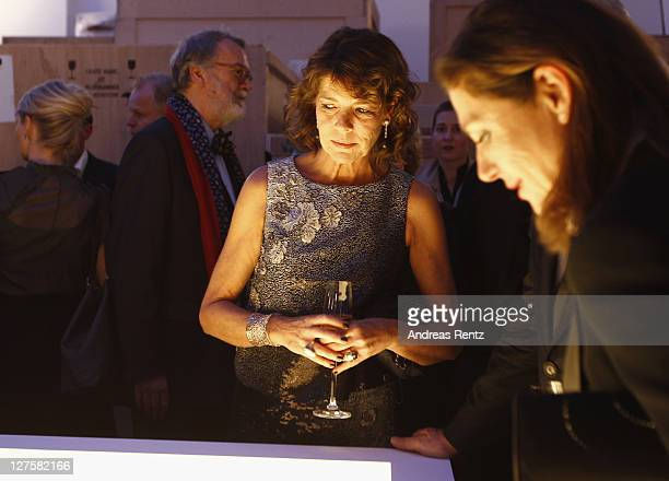 Princess Caroline of Hanover attends the 'Voluptuous Panic' Robert Wilson's 70th birthday dinner at Studio Elmgreen Dragset on September 29 2011 in...