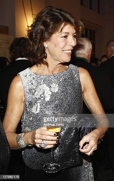 Princess Caroline of Hanover attends the 'Voluptuous Panic' Robert Wilson's 70th birthday dinner at Studio Elmgreen Dragset on September 29 2011 in...