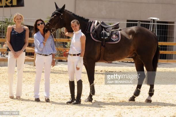 Princess Caroline of Hanover Charlene Wittstock and Charlotte Casiraghi in Monte Carlo Monaco on June 26th 2009