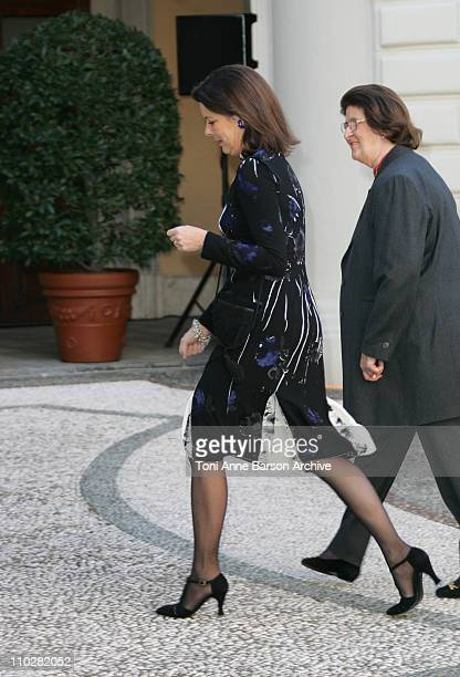 Princess Caroline of Hanover during Monaco Christmas Tree 2005 at Monaco Palace in Monaco Monaco