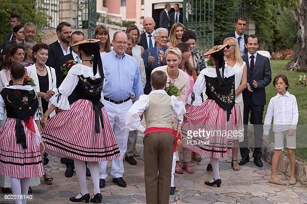 Princess Caroline of Hanover ElisabethAnne de Massy Prince Albert II of Monaco Prince Jacques Princess Charlene of Monaco and MelanieAntoinette de...