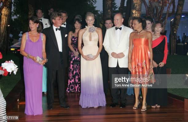 Princess Caroline of Hanover, Ernst-August of Hanover, Charlene Wittstock, HSH Prince Albert II of Monaco and Princess Stephanie of Monaco attend the...