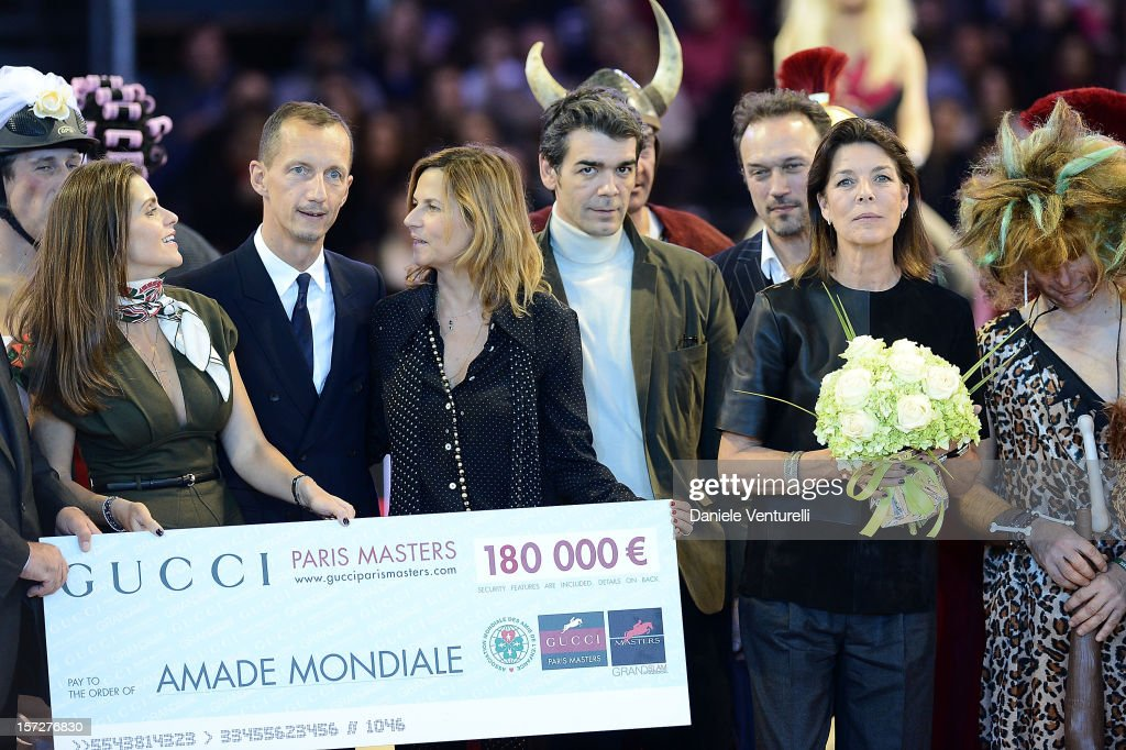 Princess Caroline of Hanover, Fernanda Ameeuw, Nelson Pessoa and Robert Triefus attend the Gucci Paris Masters 2012 at Paris Nord Villepinte on December 1, 2012 in Paris, France.