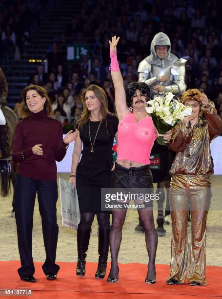 Princess Caroline of Hanover Fernanda Ameeuw Thierry Rozier and Electra Niarchos attend day 3 of the Gucci Paris Masters 2013 at Paris Nord...