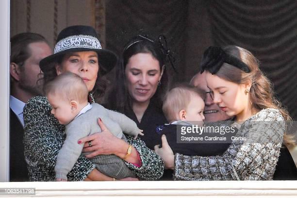 Princess Caroline of Hanover, Francesco Casiraghi, Tatiana Casiraghi, Maximilian Casiraghi and Princess Alexandra of Hanover attend Monaco National...
