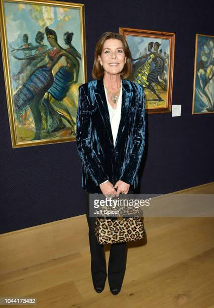 Princess Caroline of Hanover hosts a private view of 'Bienvenue Au Congo' at Bonhams on October 1, 2018 in London, England.