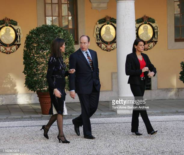Princess Caroline of Hanover HSH Prince Albert II and Princess Stephanie of Monaco