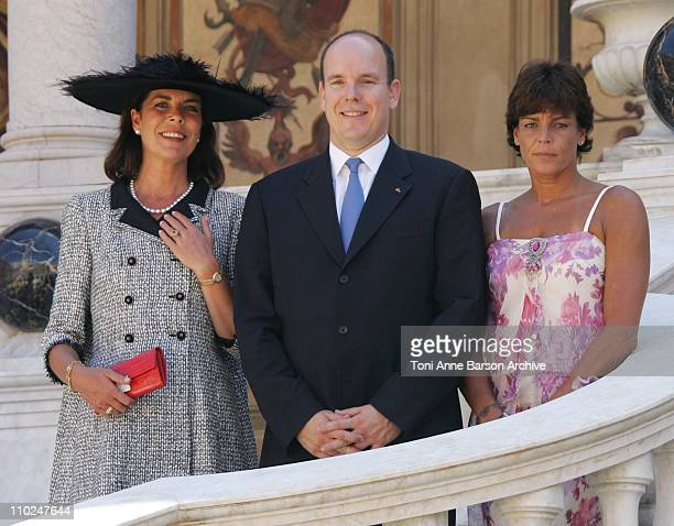 Princess Caroline of Hanover, HSH Prince Albert II of Monaco and Princess Stephanie of Monaco