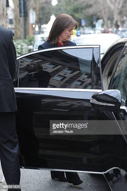 Princess Caroline of Hanover is seen leaving Melia Hotel on February 14 2014 in Genoa Italy