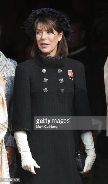 Princess Caroline Of Hanover Leaves The Cathedral After A Mass During The Celebrations Marking Monaco'S National Day In Monaco Monaco