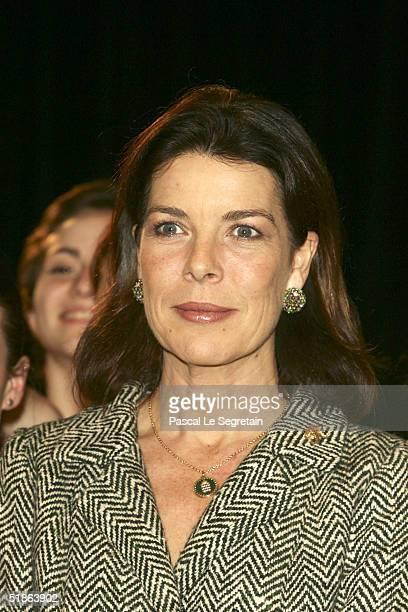 Princess Caroline of Hanover opens the Monaco Dance Forum December 15 2004 in Monte Carlo Monaco