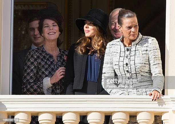 Princess Caroline of Hanover Pierre Casiraghi Charlotte Casiraghi Prince of Liechtenstein Hans Adam II and Princess Stephanie of Monaco attend the...