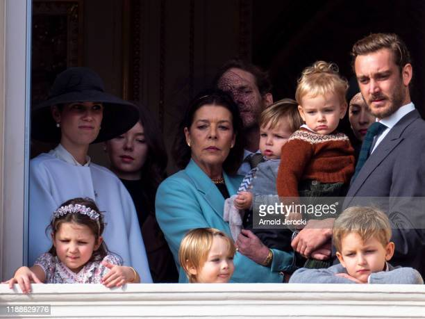Princess Caroline of Hanover Pierre Casiraghi with Francesco Casiraghi India Casiraghi Stefano Casiraghi and Alexandre Casiraghi stand at the Palace...