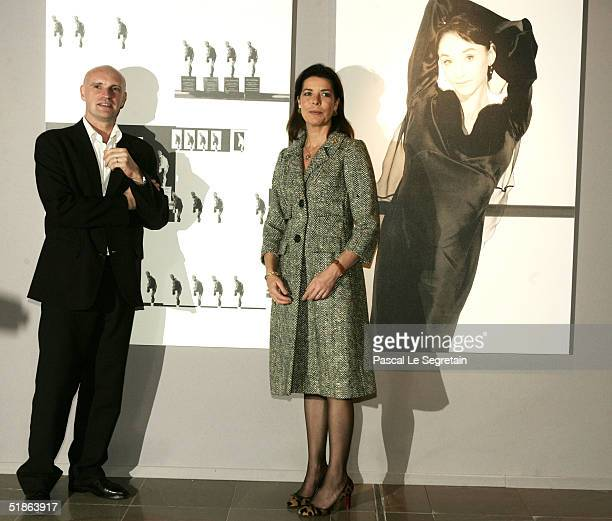 Princess Caroline of Hanover poses with JeanMarc Maillot chairman of Monaco's ballets as she opens the Monaco Dance Forum December 15 2004 in Monte...