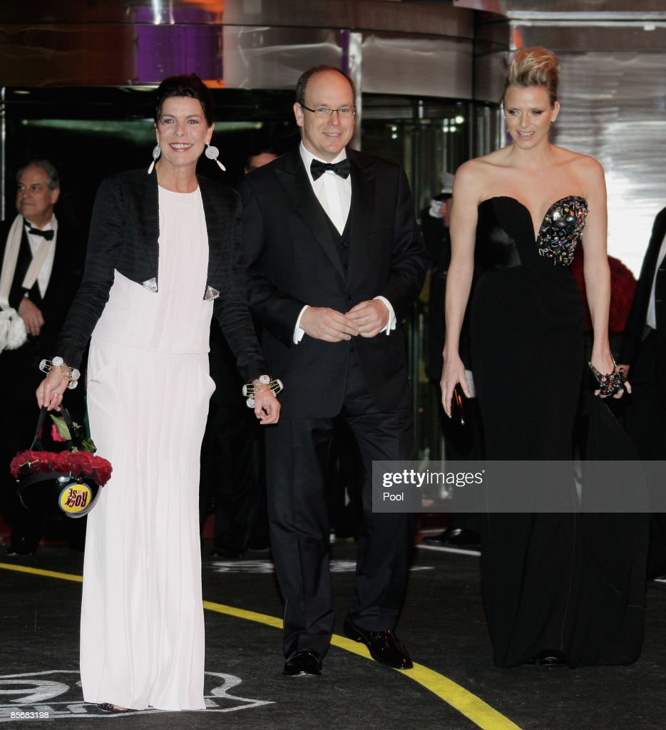 Princess Caroline of Hanover, Prince Albert II of Monaco and Karl Lagerfeld attend the 2009 Monte Carlo Rock' N Rose Ball held at The Sporting Monte Carlo on March 28, 2009 in Monte Carlo, Monaco.