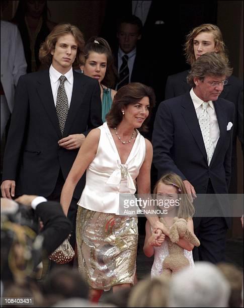 Princess Caroline of Hanover Princess Alexandra and Prince Ernst August of Hanover Prince Andrea Princess Charlotte and Prince Pierre in Monaco on...