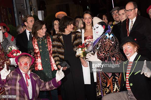 Princess Caroline of Hanover Princess Stephanie of Monaco Pauline Ducruet and Prince Albert II of Monaco attend the 40th International Circus...