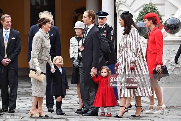 Princess Caroline of Hanover Sacha Casiraghi Andrea Casiraghi his daughter India CasiraghiTatiana Santo Domingo and Charlotte Casiraghi attend the...