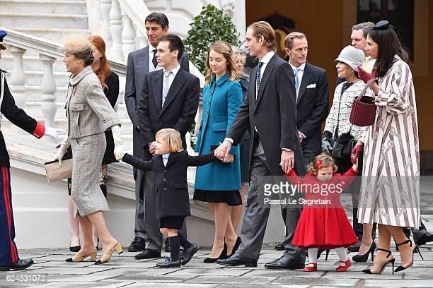 Princess Caroline of Hanover Sacha Casiraghi Louis Ducruet Princess Alexandra of HanoverAndrea Casiraghi India Casiraghi and Tatiana Santo Domingo...