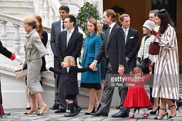 Princess Caroline of Hanover, Sacha Casiraghi, Louis Ducruet, Princess Alexandra of Hanover,Andrea Casiraghi, India Casiraghi and Tatiana Santo...