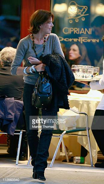 Princess Caroline of Hanover sighting having lunch at Cipriani restaurant in SOHO on October 26 2007 in New York City