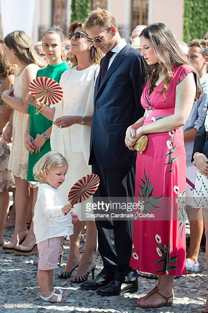 Princess Caroline of Hanover with her grandson Sasha Casiraghi Andrea Casiraghi and Tatiana Casiraghi attend the First Day of the 10th Anniversary on...