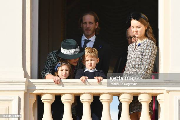 Princess Caroline of HanoverAndrea CasiraghiPrincess Alexandra of Hanover and children India Casiraghi and Sacha Casiraghi attend Monaco National Day...