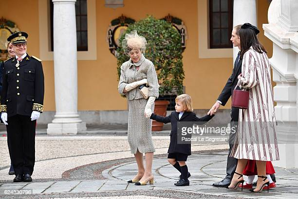 Princess Caroline of HanoverSacha Casiraghi and Andrea Casiraghi and Tatiana Santo Domingo attend the Monaco National Day Celebrations in the Monaco...