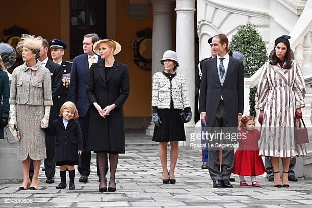 Princess Caroline of HanoverSacha CasiraghiPrincess Charlene of Monacoa guestAndrea Casiraghi India Casiraghi and Tatiana Santo Domingo attend the...