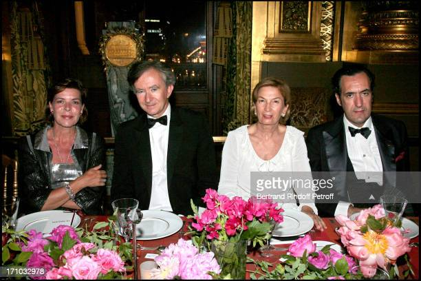 HRH Princess Caroline of Hanovre Bernard Arnault Baroness Albert brother and Duke of Lugo Jaime of Marichalar AROP gala play 'La Traviata' at the...