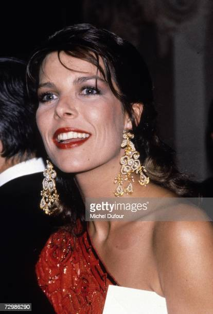 Princess Caroline of Monaco a member of the Grimaldi family attends an event in 1988 in Paris France Princess Caroline married Ernst August V Prince...