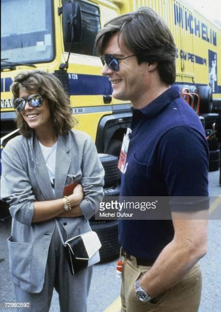 Princess Caroline of Monaco, a member of the Grimaldi family, shares a joke with Roberto Rossellini,1980 in Monaco. Princess Caroline married Ernst...