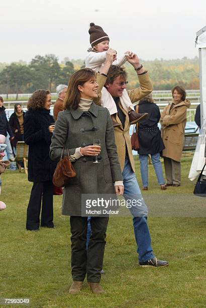 Princess Caroline of Monaco a member of the Grimaldi family walks with her third husband Ernst August V of Hanover and their daughter Alexandra in...