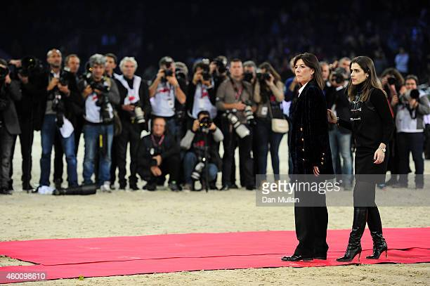 Princess Caroline of Monaco and Fernanda Ameeuw attend Day 3 of the Gucci Paris Masters 2014 on December 6 2014 in Villepinte France