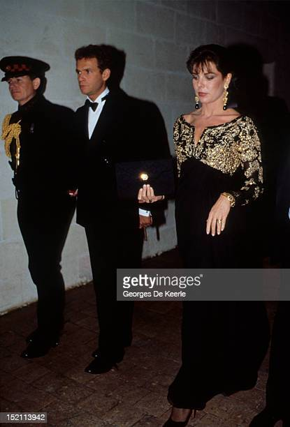 Princess Caroline of Monaco and FrancoisMarie Banier in Chambord France on November 9 1988