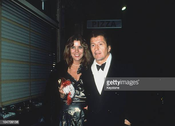 Princess Caroline of Monaco and her husband Philippe Junot leaving the 'Castel' nightclub in Paris, France on October 29, 1979.