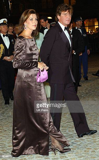 Princess Caroline of Monaco and her husband Prince Ernst August of Hanover attend a dinner and party at the Royal Palace in honor of the wedding of...