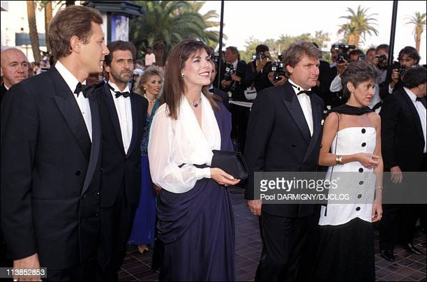 Princess Caroline of Monaco and husband Stefano Casiraghi at the openiong of Cannes Film Festival in Cannes France on May 11 1989