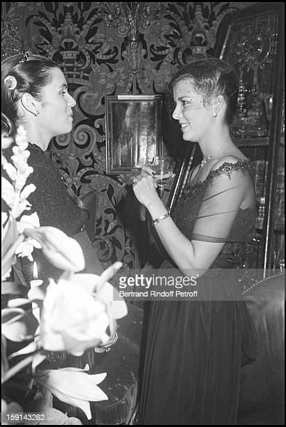 Princess Caroline of Monaco and Olympia of Rotshschild attend a party at Palace night club