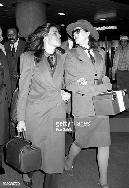 Princess Caroline of Monaco and Princess Stephanie of Monaco sighted on February 16 1984 at Gallagher's Restaurant in New York City