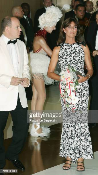 Princess Caroline of Monaco arrives at the 57th Red Cross Ball on August 5 2005 in Monaco