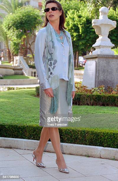 Princess Caroline of Monaco at the launching of an exhibition on American sculpture