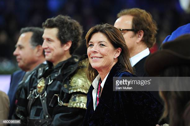 Princess Caroline of Monaco attends Day 3 of the Gucci Paris Masters 2014 on December 6 2014 in Villepinte France