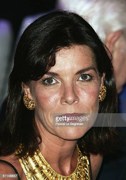 Princess Caroline of Monaco attends the Monte Carlo Red Cross Ball 2004 held at the Salle des Etoiles of the Monaco Sporting Club on August 6 2004 in...