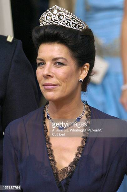 Princess Caroline Of Monaco Attends The Wedding Of Crown Prince Frederik Mary Donaldson At The Vor Frue Kirke Catherdal In Copenhagen