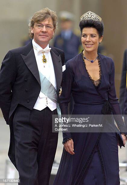 Princess Caroline Of Monaco & Ernst Of Hanover Attend The Wedding Of Crown Prince Frederik & Mary Donaldson At The Vor Frue Kirke Catherdal In...